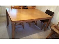 Wooden dining table, pretty side edges