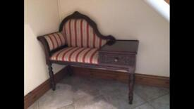 Hallway telephone seat unit