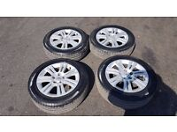 VAUXHALL ZAFIRA DESIGN ALLOY WHEELS x 4 EXCELLENT CONDITION 7MM TREAD TYRES! 205 55 16