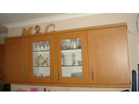 Fitted kitchen, Shaker style wooden doors.