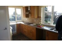 Solid wood kitchen units in good condition