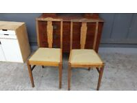 Pair Of Old Oak Chairs