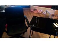 glass desk and chair need gone asap !!