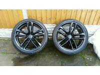 "4 x Genuine Audi RS6 21"" wheels and tyres"