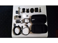 GOPRO 4 SILVER + accesories [mounts, sd card, case, usb cables, lence, adapters] CHEAP!!!