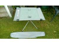 Folding table. Fishing or camping