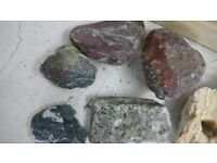 Collection of fish tank rocks decorative real aquatic aquarium
