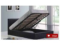 King size Ottoman bed frame and memory foam mattress