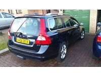 Volvo V70 FSH, 2008 2.4d 106k. Royal blue with cream leather