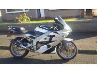 Kawasaki zx6r j1 600 silver
