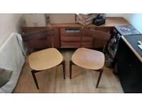 Mid-Century Danish Modern Chairs (x2)