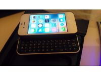 iPhone 4,4s Ultra-thin Slide-out Wireless Backlight Keyboard