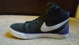 Nike black and purple midtops UK 7