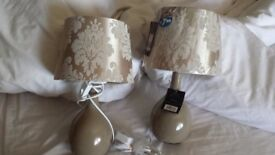 Two bedside lamps new