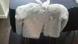 Girls fur jacket age 4-5 years
