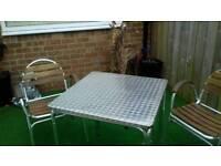 Aluminum square table