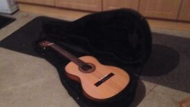 Full size classical guitar and case