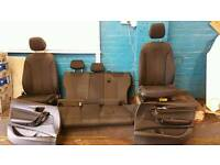 BMW 1 Series F20 F21 11-15 5 Door Cloth Interior Seats Front and Rear inc cards