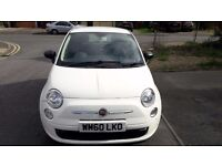 2011 Fiat 500 1.2 Pop 3dr (start/stop) WHITE ANNUAL ROAD TAX £30 LOW INSURANCE