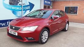 SEAT LEON 1.6 TDI SE 5dr (start/stop) (red) 2013