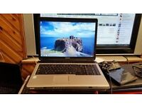 toshiba satellite l360 screen size 17 ich windows 7 250g hard drive 2g memory wifi webcam charger