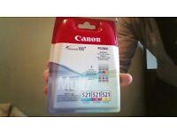Colour ink cartridges for Canon Pixma printer - CLI-521 multipack