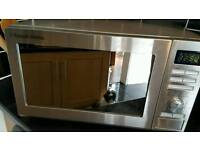 Rusell Hobs 900w stainless steel microwave oven.