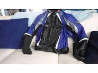 Ast women's biker leather jacket size 16