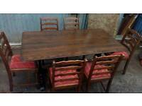 Ercol Style Refectory Table and Chairs
