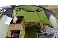 4 man tent, tent in vgc, but poles need re-strining, comes with inner tent, plenty of head room.
