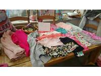 Bundles of girls clothes various ages on pictures