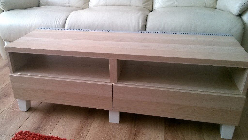 Ikea BESTA Tv Bench In Light Oak Price Reduced For Quick Sale In - Besta coffee table
