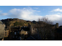Double Room in 2 bedroom flat overlooking the Crags - just off Nicholson Street