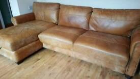 Corner sofa 9ft long gold/bronze