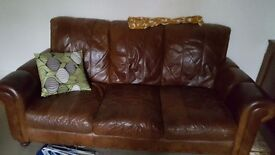 Lether sofa 3 seater