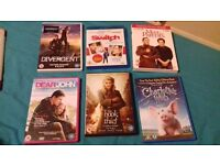 Selling a selection of DVDs including horror, romantic, true story, action and more