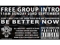 Free group induction at Scale the Heights Gym in Binley, Coventry