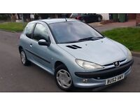 PEUGEOT 206 1.4 PETROL 2002(12 MONTHS MOT)2 OWNERS ONLY)MILEAGE 75 K