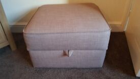 2x 3 seater sofas and storage footstool