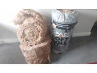 2x rolls of 100mm loft insulation