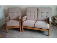 Cintique 2 seat sofa and matching chair.