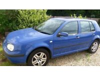 vw golf 1.6 no mot ..runs fine.. 121 miles petrol 5 dr .. £550