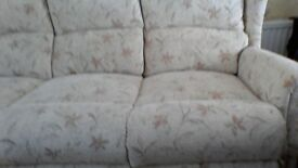 3 seater sofa and armchairin new condition going very cheep.