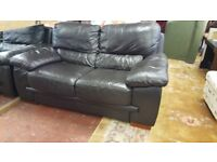 2 Seat Brown Leather Sofa