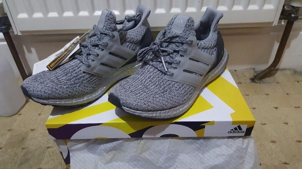 adidas Ultra Boost 3.0 LTD 'Mid Grey' Leather Cage More Sneakers