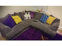 Corner sofa, Grey 5 Seater, As good as new hardly used.