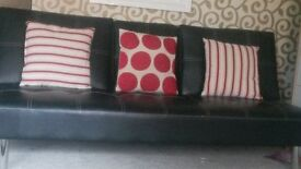 As new 3 x modern and stylish red and beige cushion