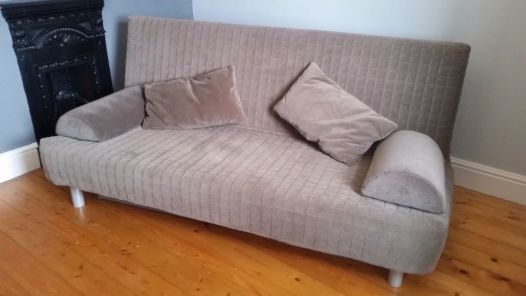 sofa bed double ikea beddinge lovas double sofa bed in grangetown cardiff gumtree. Black Bedroom Furniture Sets. Home Design Ideas