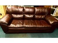 Designer real leather sofa