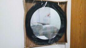 47cm Black Decorative Antique French Style Porthole Mirror Shabby Chic Style Acrylic Home Decor